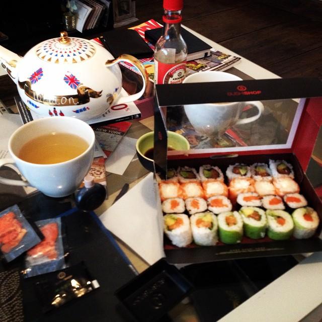 c'est l'heure des maki... et du thé vert... plaisir et réconfort