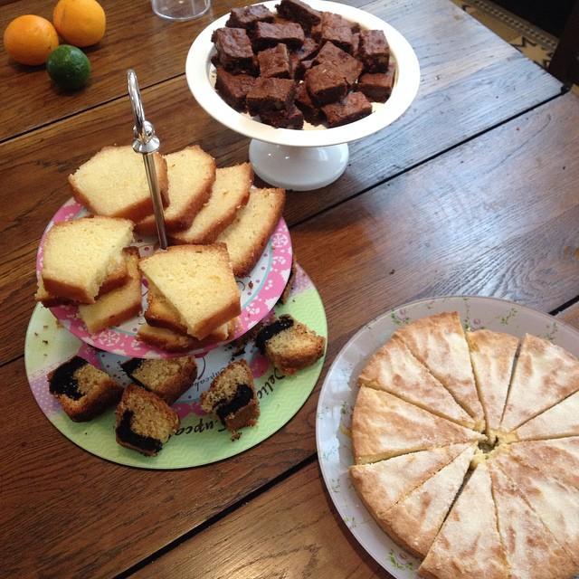 Gâteaux maisons pas en vente mais pour la famille de passage à la braderie