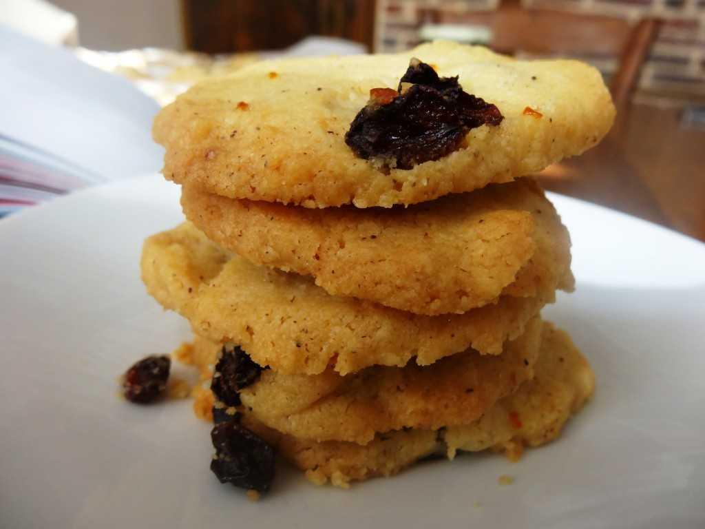 tea cookie au raisins